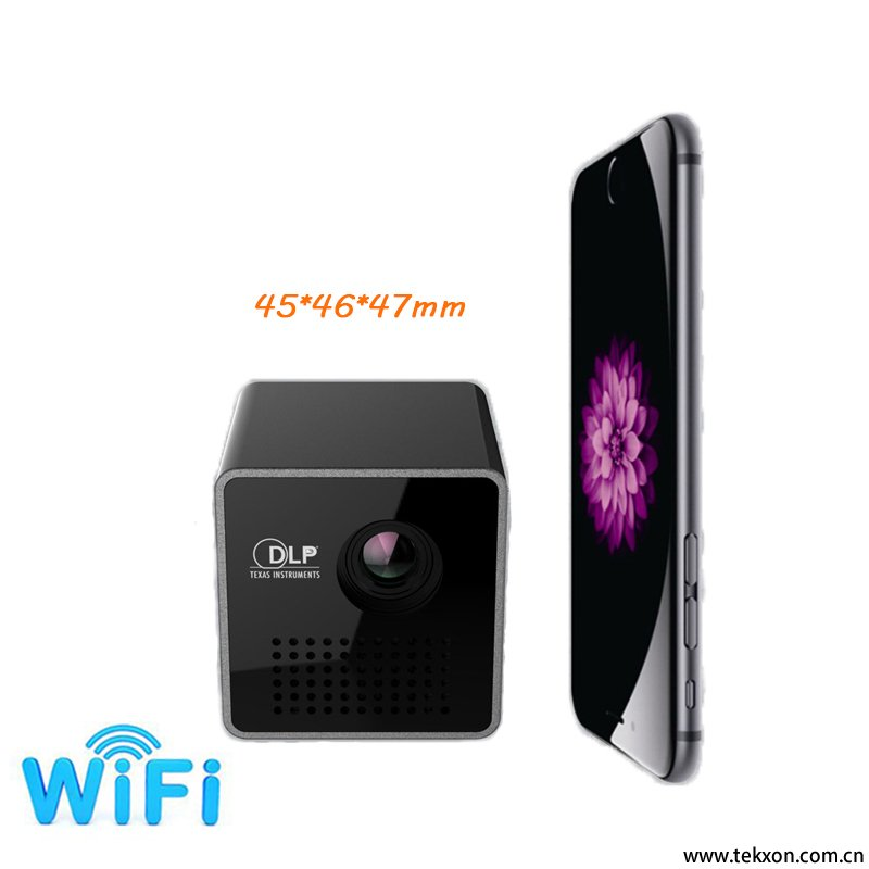 G1+ DLP micro projector wireless WiFi 35 lumens 800:1 super mini DLP projector 640*360