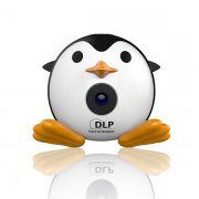 Q1 2017 so cute! mini penguin micro DLP projector 40 lumens support full HD 1080P TF/USB/HDMI/AV3in1